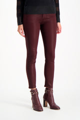 Front Crop Image Of Model Wearing Rag & Bone Nina High Rise Ankle Skinny