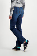 Back Crop Image Of Model Wearing Rag & Bone Women's Nina High Rise Cigarette Jeans