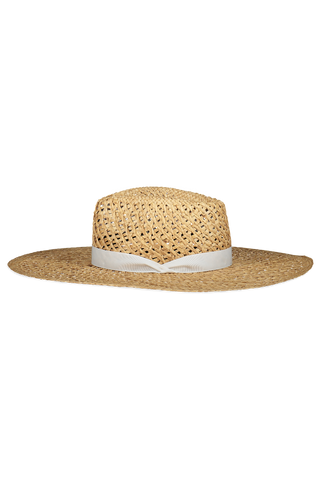 Open Weave Wide Brim Hat Natural