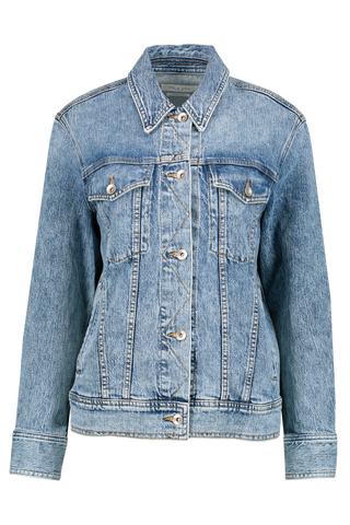 Front Image Oversized Denim Jacket