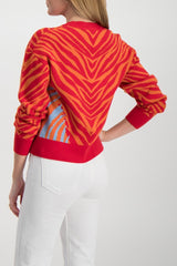 Back Crop Image Of Model Wearing Rag & Bone Plaza Crewneck Sweater