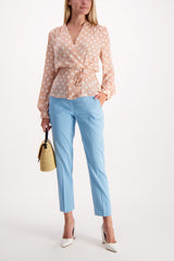 Full Body Image Of Model Wearing Rag & Bone Poppy Tab Pant