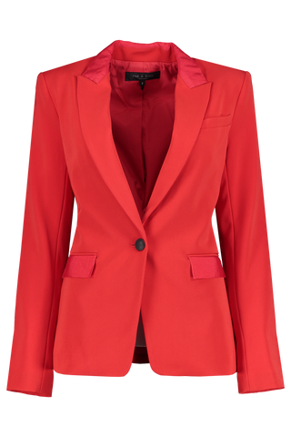 Front view image of Rag & Bone Rylie Blazer True Red