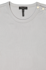 Front Collar Image Of Rag & Bone Sonny Tee Dusty Blue