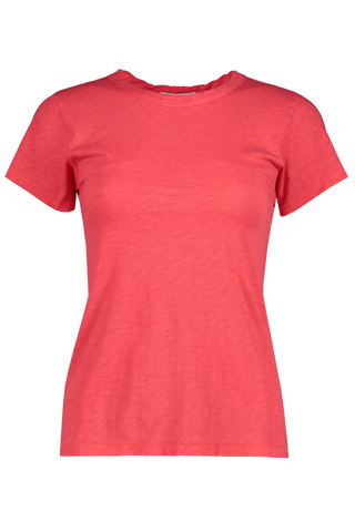 Front view detail image of Women's The Tee Bright Coral