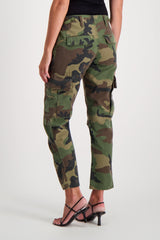 Back Crop Image Of Model Wearing RE/DONE Cargo Pant