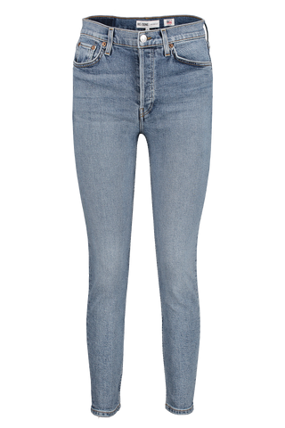 Front image of RE/DONE High Rise Ankle Crop Denim