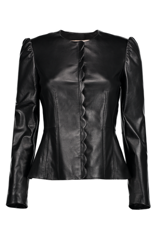 Scallop Leather Jacket