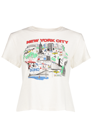 Front image detail of RE/DONE Classic New York City Tee