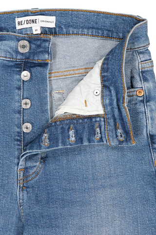 Waistline detail image of RE/DONE High Rise Ankle Crop Denim