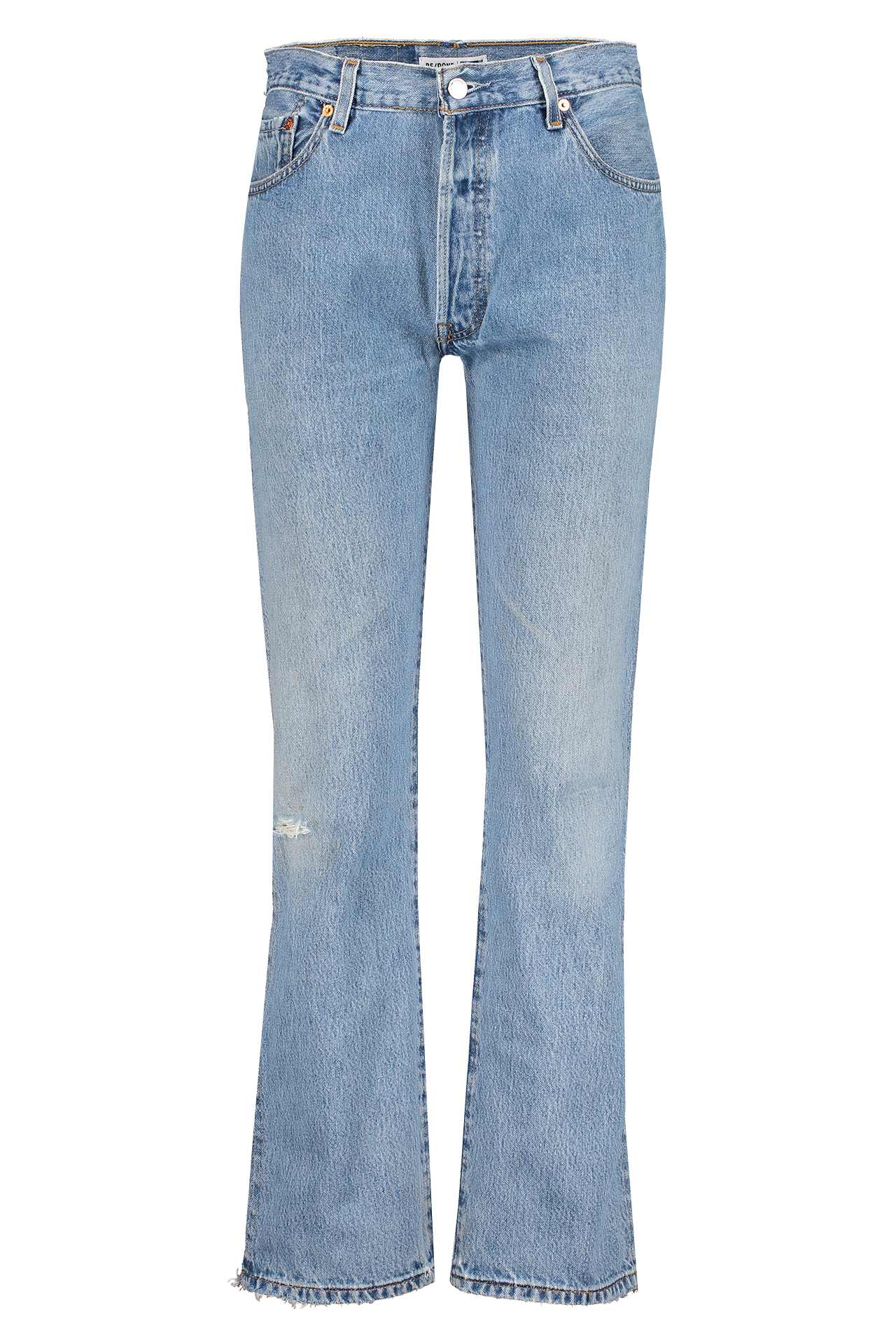 Front view image of RE/DONE High Rise Loose Denim Indigo