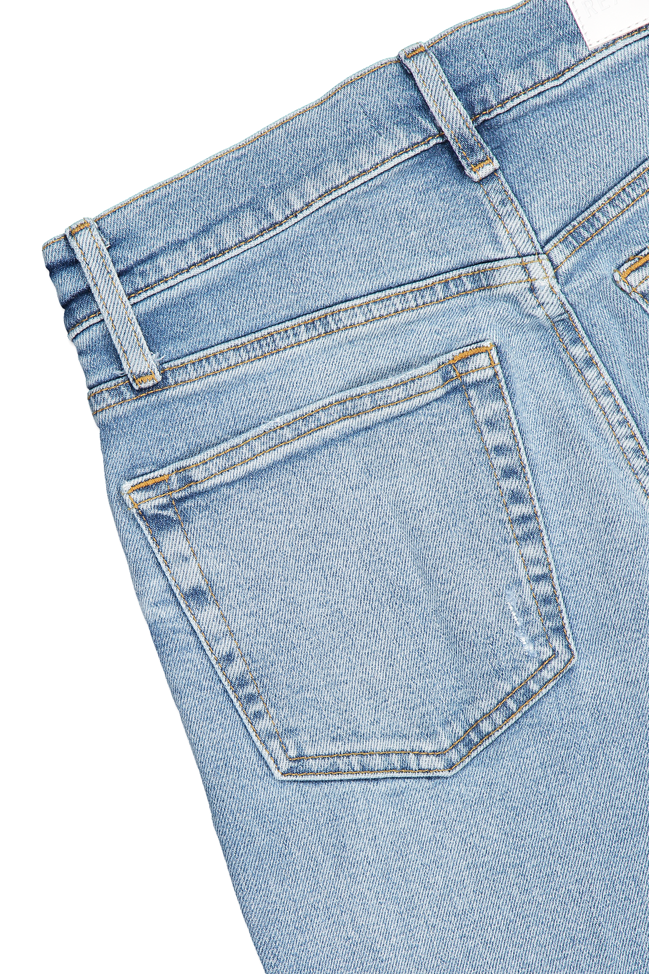 Back pocket detail image of RE/DONE High Rise Stove Pipe Denim