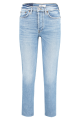 Front view image of RE/DONE High Rise Stove Pipe Denim