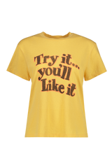 """Try It"" 70's Recycled Loose Tee"