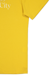 Cuff And Hem Image Of Saturdays NYC Miller Standard Short Sleeve Tee Goldenrod