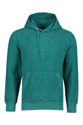 Front Image Of Saturdays NYC Ditch Hooded Sweatshirt Ocean