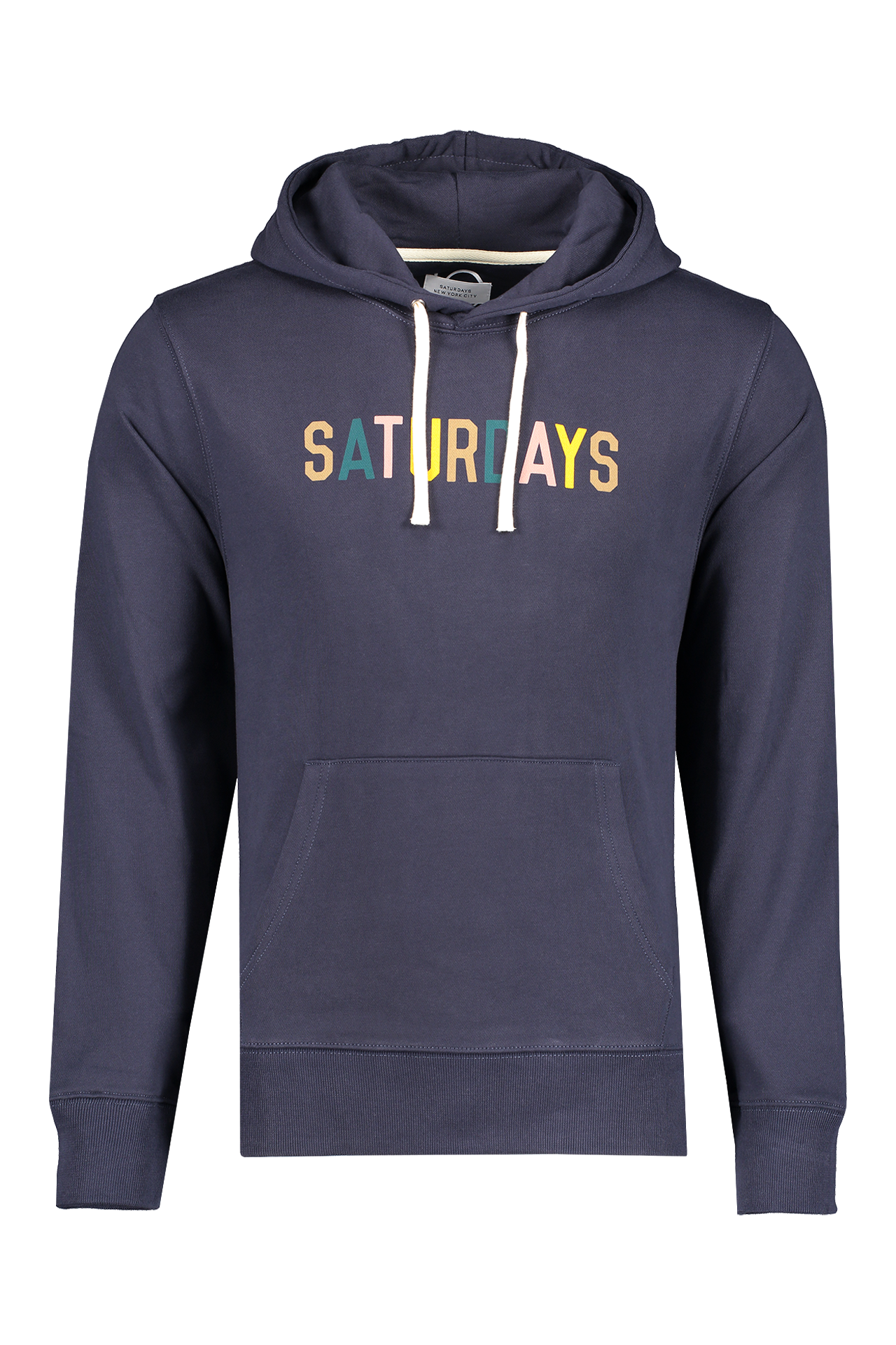 Front view image of Saturdays NYC Men's Ditch Saturdays Multi Color Hoodie