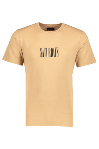 Front view image of Saturdays NYC Men's Middle Condensed Tee