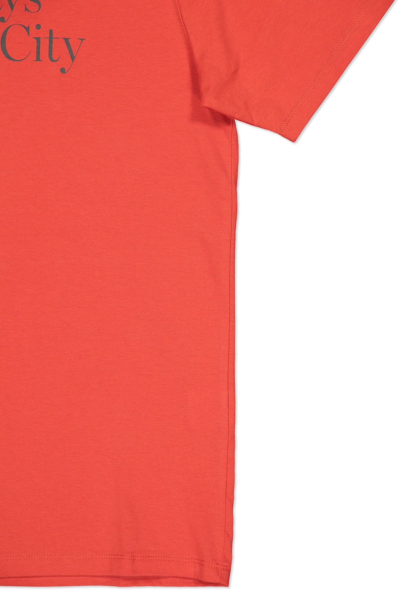 Cuff And Hem Image Of Saturdays NYC Miller Standard Short Sleeve Tee Chili