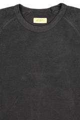 Front collar detail image of Saturdays NYC Men's Simon Crewneck Sweatshirt Black