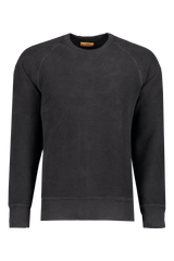 Front view image of Saturdays NYC Men's Simon Crewneck Sweatshirt Black