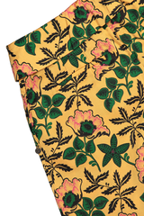 Welted back pocket detail image of Maison Scotch Cropped Wide Leg Pant Floral