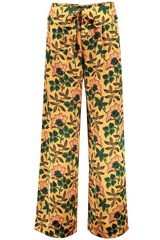 Front image of Maison Scotch Cropped Wide Leg Pant Floral