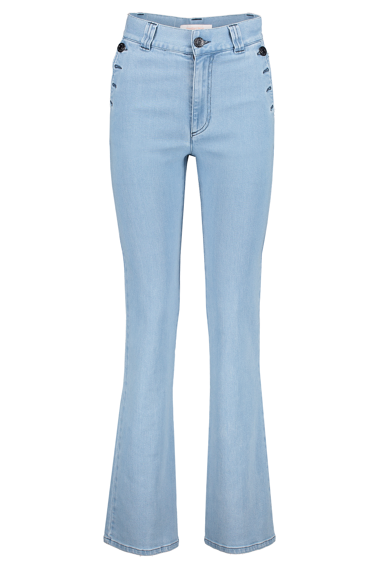 Front image of See By Chloé High Waist Sailor Denim