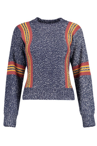 Front image of See By Chloé Crewneck Stripe Sweater