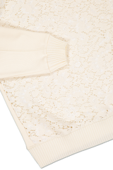 Hemline and sleeve detail image of See By Chloé Floral Lace Sweater