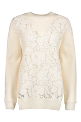 Front view image of See By Chloé Floral Lace Sweater