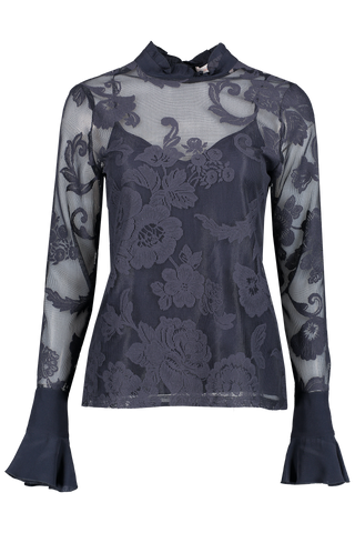 Front image of See By Chloé Long Sleeve Floral Blouse