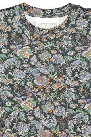 Front collar detail image of See by Chloe Long Sleeve Floral Dress