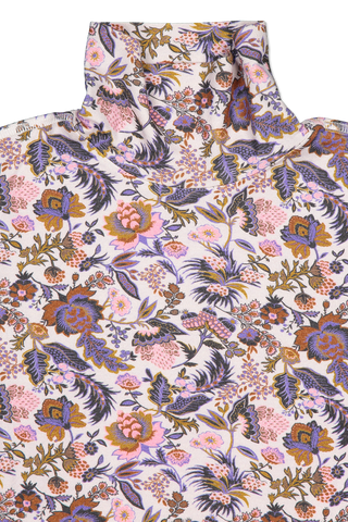 Front collar detail image of See By Chloé Long Sleeve Floral Turtleneck