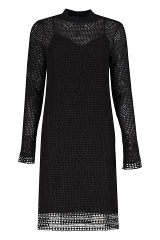 Front view image of Chloe Long Sleeve Mock Neck Dress