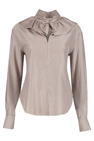 Front view image of See By Chloé Long Sleeve Neck Tie Blouse