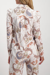 Back Crop Image Of Model Wearing See By Chloé Long Sleeve Paisley Blouse