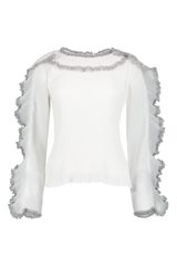 Front view image of See By Chloé Long Sleeve Ruffle Blouse