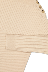 Sleeve and shoulder detail image of See By Chloé Women's Long Sleeve Turtleneck Sweater Dress