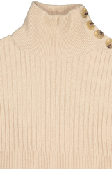 Neckline detail image image of See By Chloé Women's Long Sleeve Turtleneck Sweater Dress