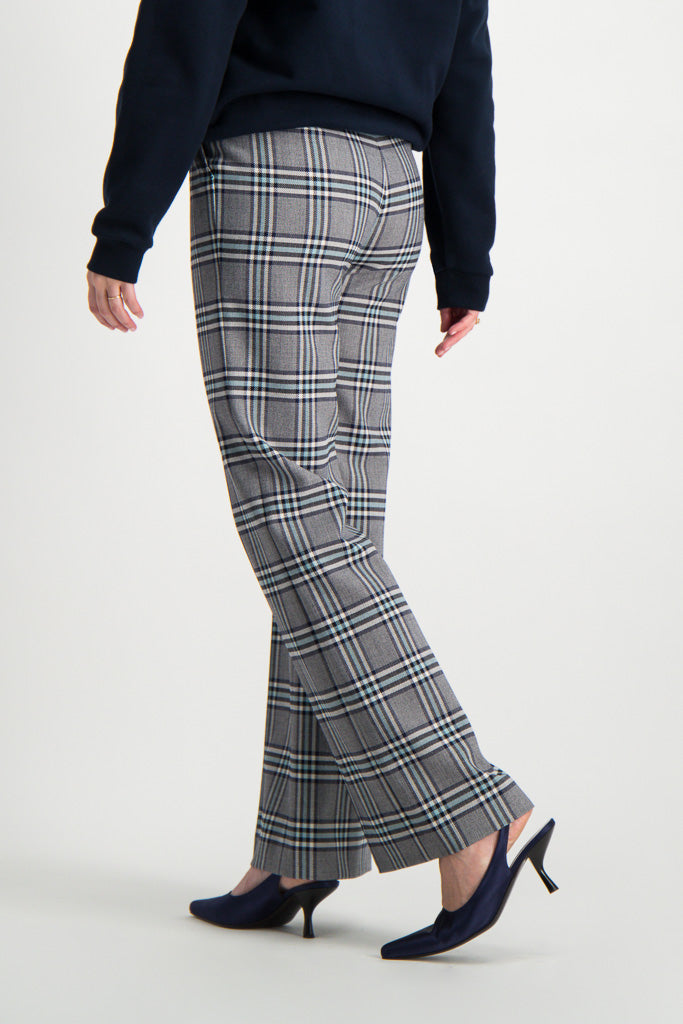 Back Crop Image Of Model Wearing See By Chloé Plaid Trouser