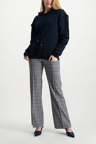 Full Body Image Of Model Wearing See By Chloé Plaid Trouser