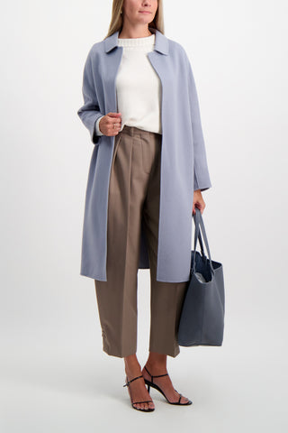 Full Body Image Of Model Wearing See By Chloé Pleated Trouser