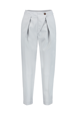 Front Image Of See by Chloé Pleated Trouser Cold Grey