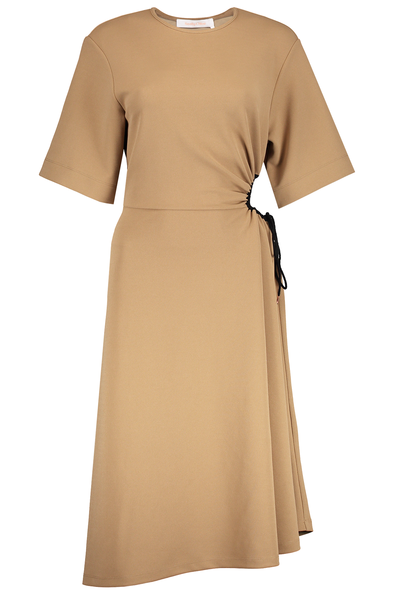 Front Image of See By Chloé Short Sleeve Ruched Dress
