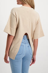 Back Crop Image Of Model Wearing See By Chloé Short Sleeve Sweater