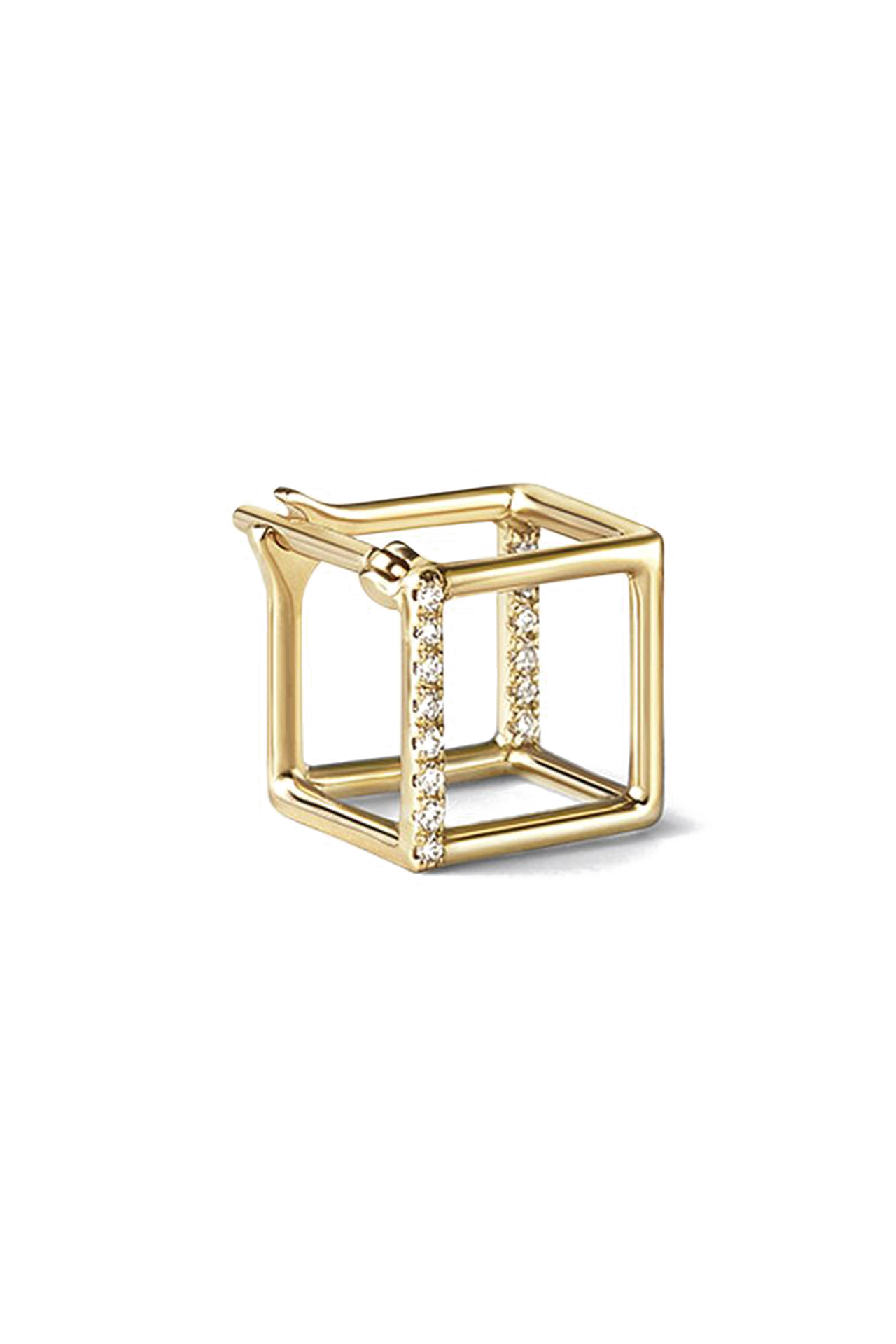 3D Diamond Square Earring