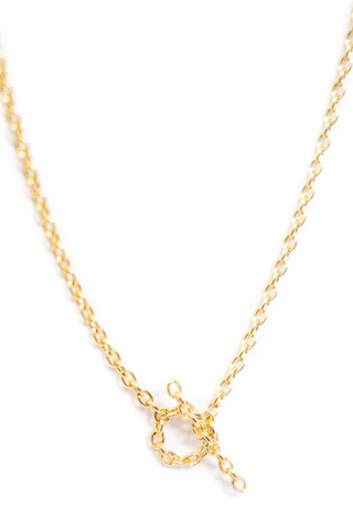 Pendant Detail Chain Necklace 06 18k Yellow Gold