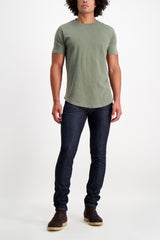Full Body Image Of Model Wearing S.M.N. Denim Finn Tapered Slim Bravo