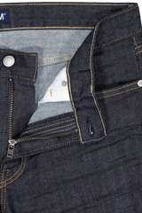 Button and zip detail image of S.M.N. Denim Finn Tapered Slim Bravo